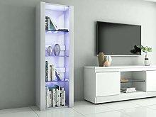 Panana LED Tall Display Cabinet with Glass Shelf