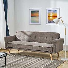 Panana Linen Fabric 3 Seater Sofa Bed Modern
