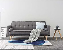 Panana Linen Fabric 3 Seater Sofa Bed Modern