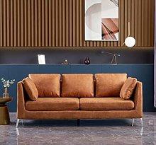 Panana Luxury 3 Seater Sofa Faux Leather/Fabric