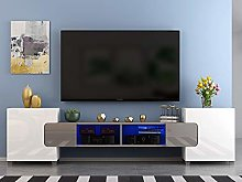 Panana Modern Large TV Stand Cabinet Unit with LED