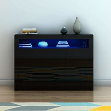 Panana Modern Sideboard High Gloss Fronts Storage