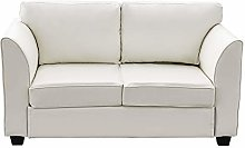 Panana Modern Sofa Compact Faux Leather 2 Seater