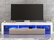 Panana Modern White 160CM TV Cabinet With RGB LED
