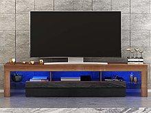 Panana Modern White 160CM TV Cabinet With RGB LED