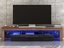 Panana Modern White TV Cabinet With RGB LED Lights
