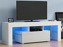 Panana RGB LED TV Stand Cabinet Unit Modern 130cm