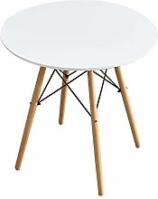 Panana Round Dining Table, White Wooden Coffee