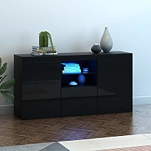 Panana Sideboard Living Room Cupboard with LED