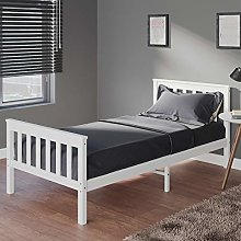Panana Single Bed 3ft Bed Frame White Solid Wood