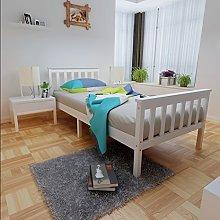 Panana Single Bed Frame White Pine Wooden Bedroom