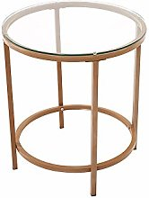 Panana Small Glass Coffee Table Modern Round Side