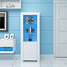 Panana Tall Display Cabinet High Gloss with LED