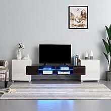 Panana TV cabinet unit, 230cm wooden Gloss & Matt