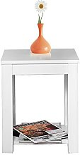 Panana Wooden Bedside Table Cabinet End Side White