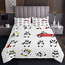 Panda Bedspread Kids Cute Animal Quilted Coverlet