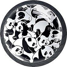 Panda Black White Knobs for Dresser Drawers