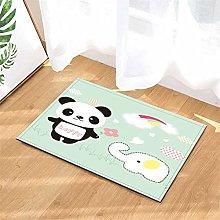 Panda. Elephant. Door Mat Front Door Carpet