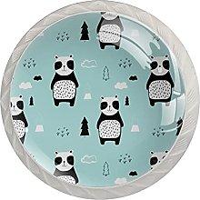 Panda , Modern Minimalist Printing Cupboard Handle