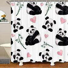 Panda Shower Curtain for Cute Animal Bathroom