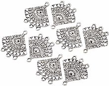 PandaHall 10pcs Chandelier Earring Charms Antique