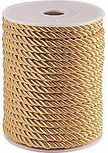 PandaHall 18~19 Yards Twisted Cord Gold Rope Nylon