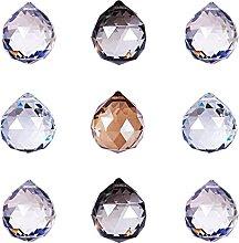 PandaHall 20pcs Crystal Ball Prism Pendant