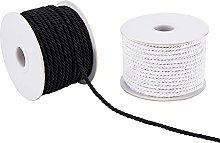 PandaHall 3mm Nylon Braided Cords Twisted Threads