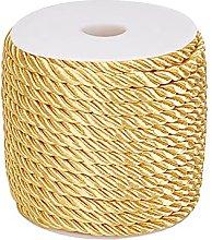 PandaHall 59 Feet 5mm Gold Twine Cord Rope 3