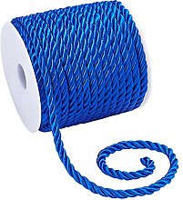 PandaHall 5mm Decorative Twisted Rope Blue