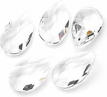 PandaHall 5pcs Crystal Ball Prism Pendant