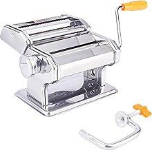 PandaHall Pasta Maker, Manual Pasta Roller With 6