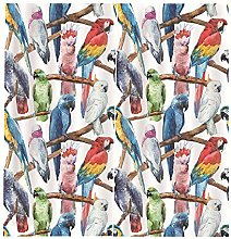 PANDAWDD Blackout Curtains 2 Panels Animal Parrot