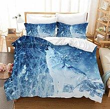 PANDAWDD Duvet Quilt Cover Set - 3D Blue Animal