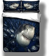 PANDAWDD Duvet Quilt Cover Set - Blue Sea Animal