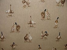 Pandoras Mini Prints Ducks Animals Linen Look