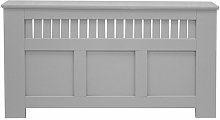 Panel Grill French Grey Painted Radiator Cover -