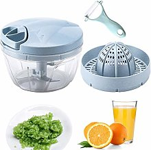 PANHU Easy Pull Food Manual Chopper with Citrus
