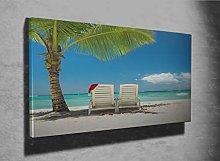 Panorama of Beautiful Beach Photo Canvas Print