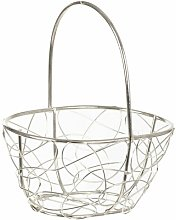 Pantin Wire Mesh Oblong Decorative Basket Lily