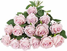 PANTINUE 15 PCS Artificial Roses, 19.68''