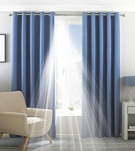 Paoletti Two Curtain Panels, Polyester, Denim, 66