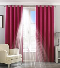 Paoletti Two Curtain Panels, Polyester, Pink, 90 x