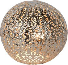 Paolo 13cm Table Lamp Lucide Shade colour: Silver