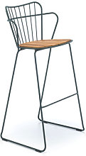 Paon Bar chair - / Metal & bamboo by Houe