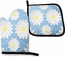 Paper Craft 3d Flowers Seamless Pattern Oven Mitt
