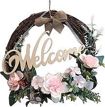 Paper Flower Wreath Farmhouse Wedding Wreath Round