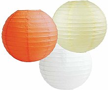 Paper Lanterns Mix Color Packs of 3 Round Paper