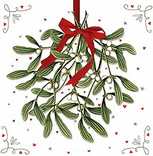 Paper Napkins Christmas Mistletoe Lunch Party