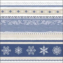 Paper Napkins Christmas Winter Border Blue Lunch